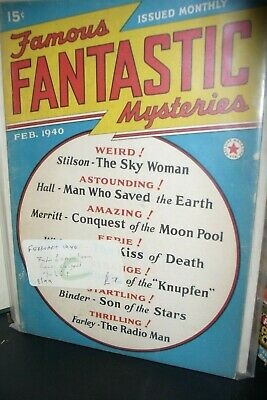 Famous Fantastic Mysteries Pulp Magazine Feb & Aug 1940 [2 Issues]