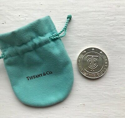 TIFFANY & CO Collectors Piece Sterling Silver Vermeil $25 Merchandise Money Coin