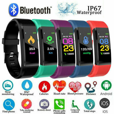 Bluetooth Smart Bracelet Style Heart Rate Monitor Watch Pedometer Tracker