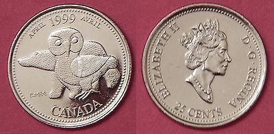 Proof Like 1999 Canada April 25 Cents From Mint's Set