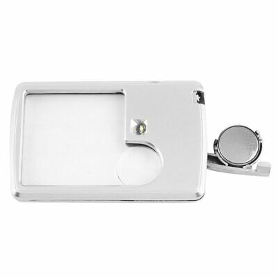 3X 6X Credit Card Magnifier Loupe  LED Light Reading Magnifying Glass Loupe