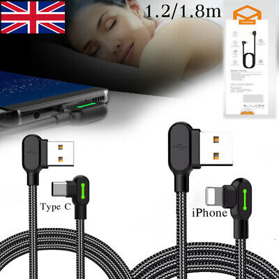 Heavy Duty Braided Fast Charge Lightning & Type C Data Phone Charger Cable Lead