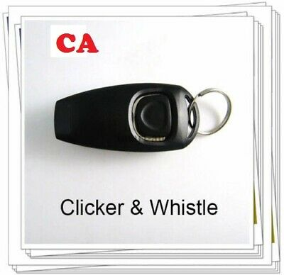 Pet Puppy Clicker Whistle Dog Training Obedience Cats Trainer Keyring Aid Click