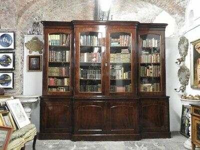 Antique Furniture Bookcase from '800 English Mahogany London Period Edwardian