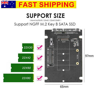 2 in 1 mSATA to SATA NGFF M.2 to SATA3 Adapter Card SSD Solid State Disk Drive