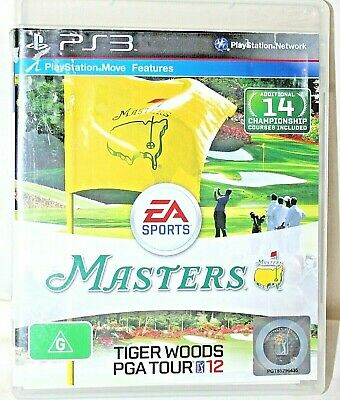 PS3 Masters Tiger Woods PGA Tour 12   *incomplete
