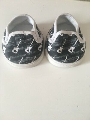 Build A Bear Workshop BABW Black And White Guitar Print Trainers