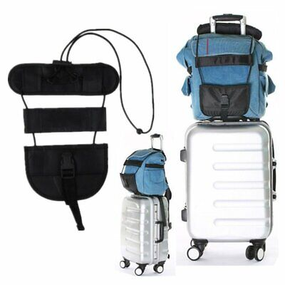 Add A Bag Strap Travel Luggage Suitcase Adjustable Belt Carry On Bungee Easy TU