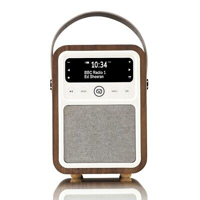 VQ Monty Portable DAB+/FM Radio & Bluetooth Speaker in Walnut (Refurbished)