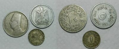 3 Old Egyptian Coins