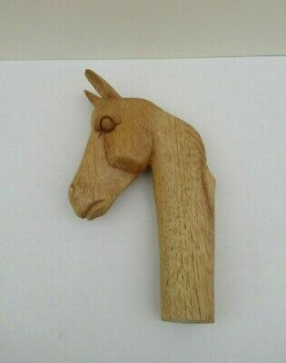 WOODEN CARVED HORSE HEAD  STICK Handle  for Walking stickmaking