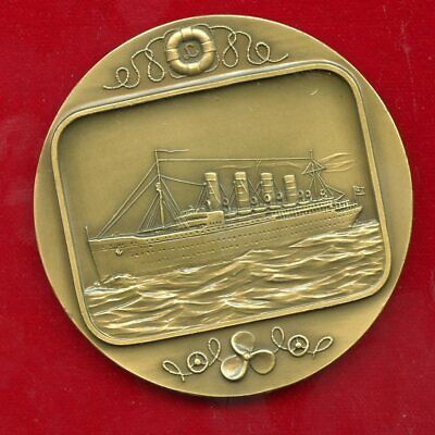"Lusitania  ""Paquete""   Historia Do Barco 69 Mm Bronze Serial #403/1000"
