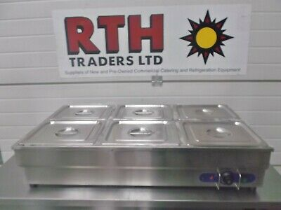 RTH ~ Bain Marie ~ 6 x 1/2 Gastronorm Pans ~ Electric Table Top Pots ~ £320+V