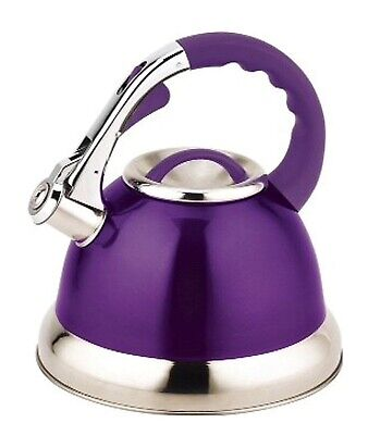Prima 3 Litre Lightweight Stainless Steel Whistling Kettle Home Travel Camping