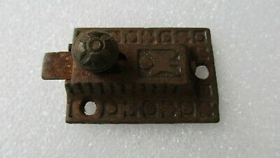 Sargent Co. Eastlake Victorian Spring Loaded Cabinet Latch Cast Iron (No Catch)