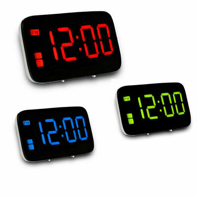 Digital LED Alarm Clock Voice Control Electric Snooze Night Backlight USB Charge