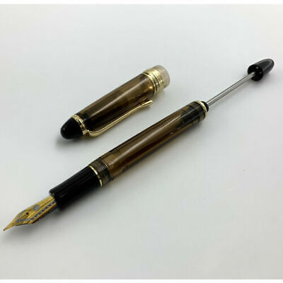 Wing Sung 699 Brown Translucent Vaccum Filling Fountain Pen Fine Nib