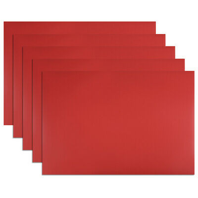 """5 Pcs Dry Erase  Magnetic Strip 11.7"""" x 8"""" Labels Stickers Writable Red"""