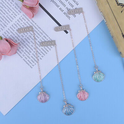 Novelty shell pendant bookmark stationery school office sup fq
