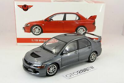 Super A 1:18 scale Mitsubishi Lancer Evolution IX GSR(EVO 9)Gray *Full Opening*