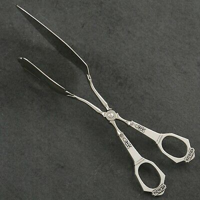 Brodrene Mylius SAGA Norwegian 830S Silver Norway Large Pastry Sandwich Tongs