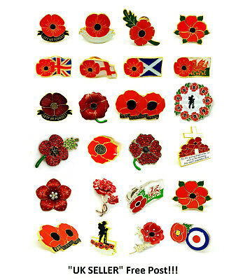 All Poppy Pin Badge Scotland Lest We Forget Uk Wales