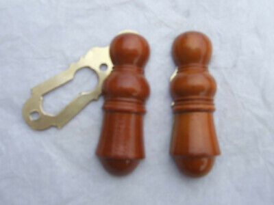 wooden door escutcheons keyhole covers , boxwood ( x2 )