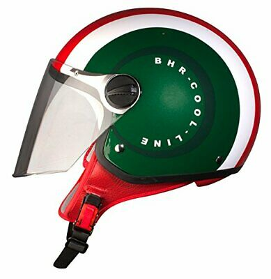 Casco Moto Scooter Vespa Jet Bhr 710 Special Cool Italy Rosso Verde Bianco Tg S