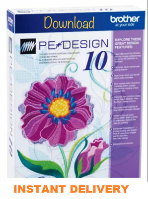 Brother PE Design 10 Embroidery Full Software & Free Gifts🎁 & FAST DELIVERY📥📥