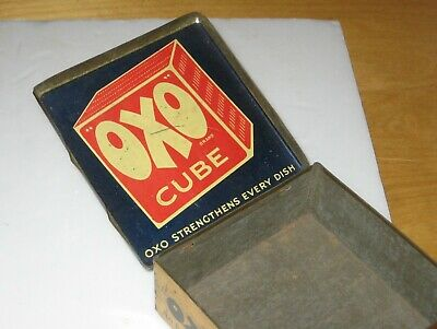 Early Example Vintage OXO CUBES TIN