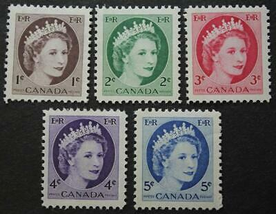 Canada #337p-341p, MNH OG Set Of 5 Winnipeg Tagged Wilding Series