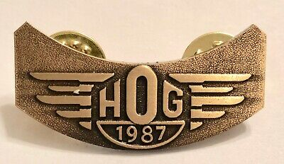 1987 Harley Davidson HOG Owners Group Hat Lapel Pin