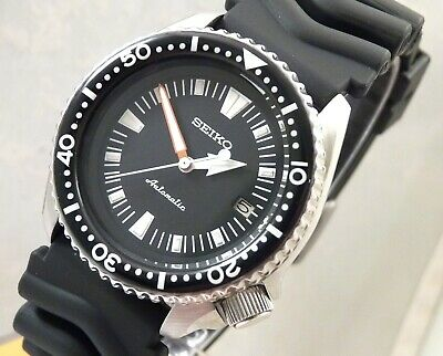 Seiko Ceramic Black Starburst Submariner Divers Automatic Date Watch Custom 7002
