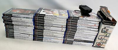 Collection Of 38 PLAYSTATION 2 Games With EyeToy Camera - B12
