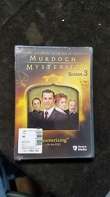 Murdoch Mysteries: Season Three (DVD, 2011, 4-Disc Set) New Sealed