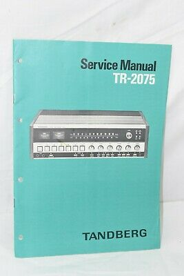 Tandberg TR-2075 Service Manual with Schematics, Procedures 15 Pages