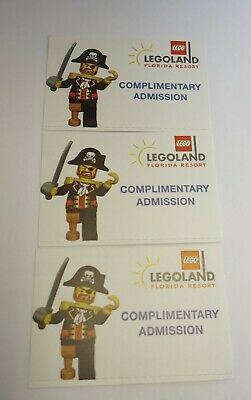 Legoland 3 tickets Florida 1-Day Park & Waterpark General Admission Exp 4/2/2020