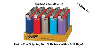 Bic Classic Full Size Lighter Assorted Colors Cigarette Lighters  50-Count Tray