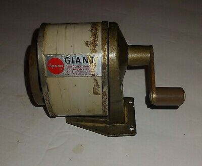 Vintage 6 Hole Apsco Giant Pencil Sharpener Wall Desk Mount School Office