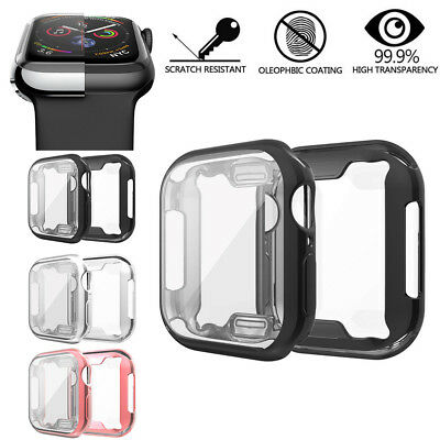 Caliente galjanoplastia TPU protector funda para Apple Watch Series 4 40M 44MM