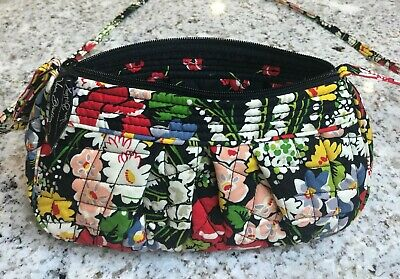 "VERA BRADLEY Poppy Fields Pattern Top Zip Small 10"" Crossbody Bag"