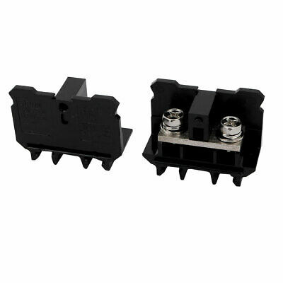 2 Pcs SN-75 600V 75A 22mm2 Screw Clamp Contact Din Rail Terminal Block