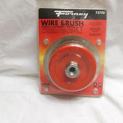 "Forney Coarse Knotted Wire Cup Brush 5/8"" -11 Nut  #72756"