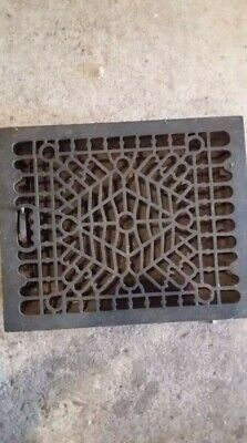 """Antique cast iron wall register,heat vent with louvers.On the top it is 17""""x14"""""""
