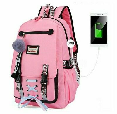 Anti-Theft with Charging USB Lock School Travel Bag For Kids Teens Adults