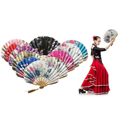 Chinese Dragon Knife Hand Held Fan Bamboo Paper Folding Fan Stage Wedding Decor