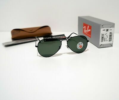 Ray Ban Sunglasses Aviator 3025 L2823 Black Green G-15 Medium 58mm