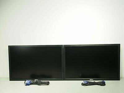"Lot of 2 Dell P2210t 22"" LCD Monitor 1680 x 1050 1000:1 VGA No Stand Tested"