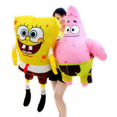 Giant SPONGEBOB SQUAREPANTS Patrick Star Doll Stuffed Plush Soft Toy Pillow Kids