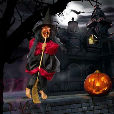 HALLOWEEN HANGING ANIMATED Voice Control Witch Creepy Party